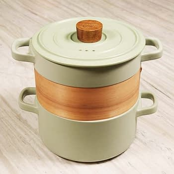 Ceramic Claypot with Bamboo Steamer